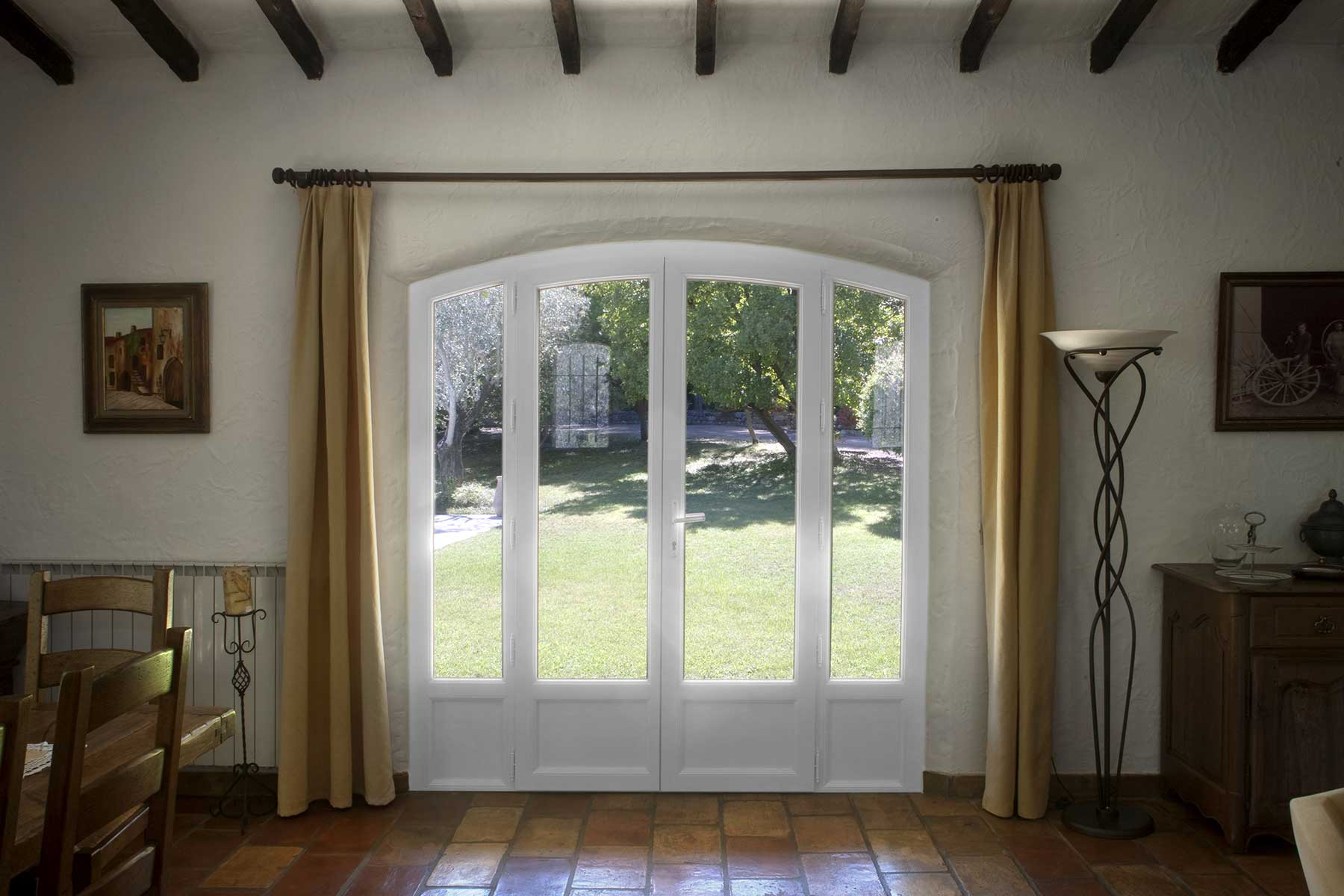 menuiserie pvc cintr e veran 39 baie. Black Bedroom Furniture Sets. Home Design Ideas